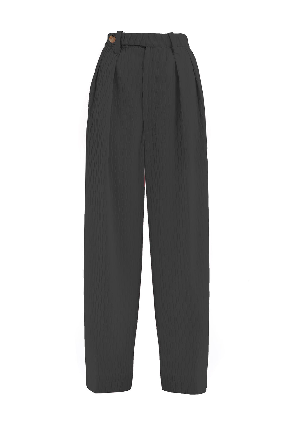Wide-leg trousers with crease