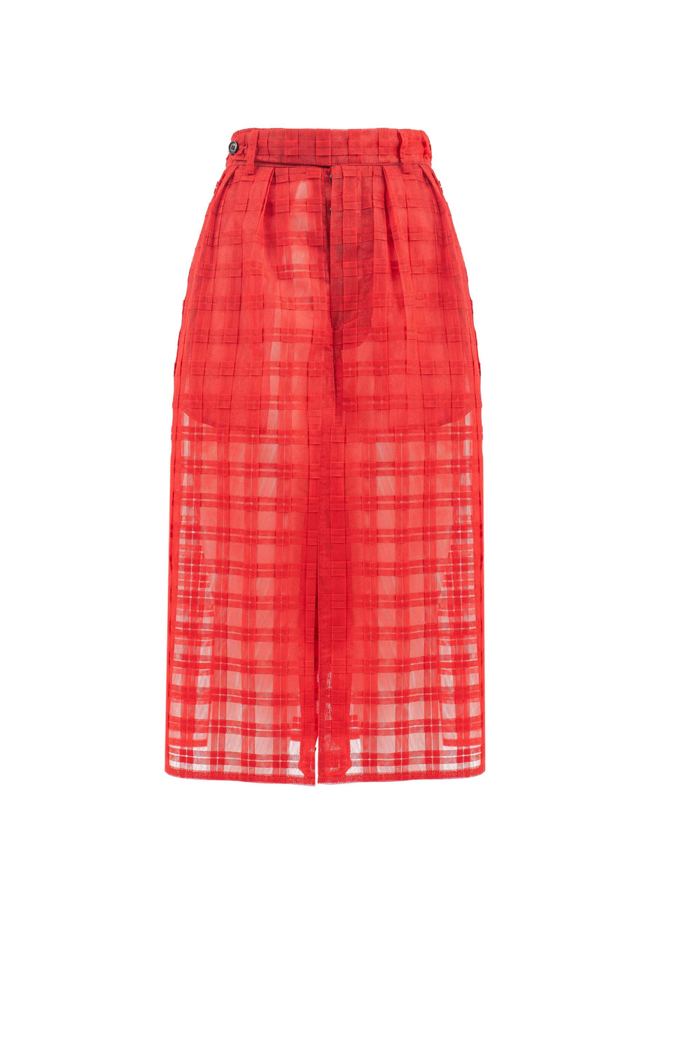 Checked tulle pant skirt