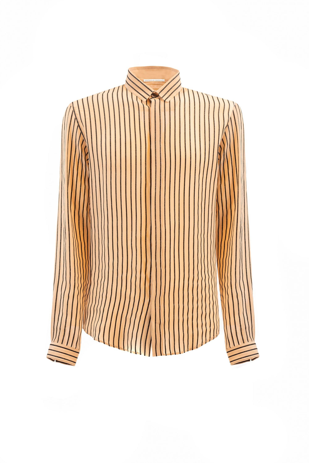 Lurex striped silk shirt.