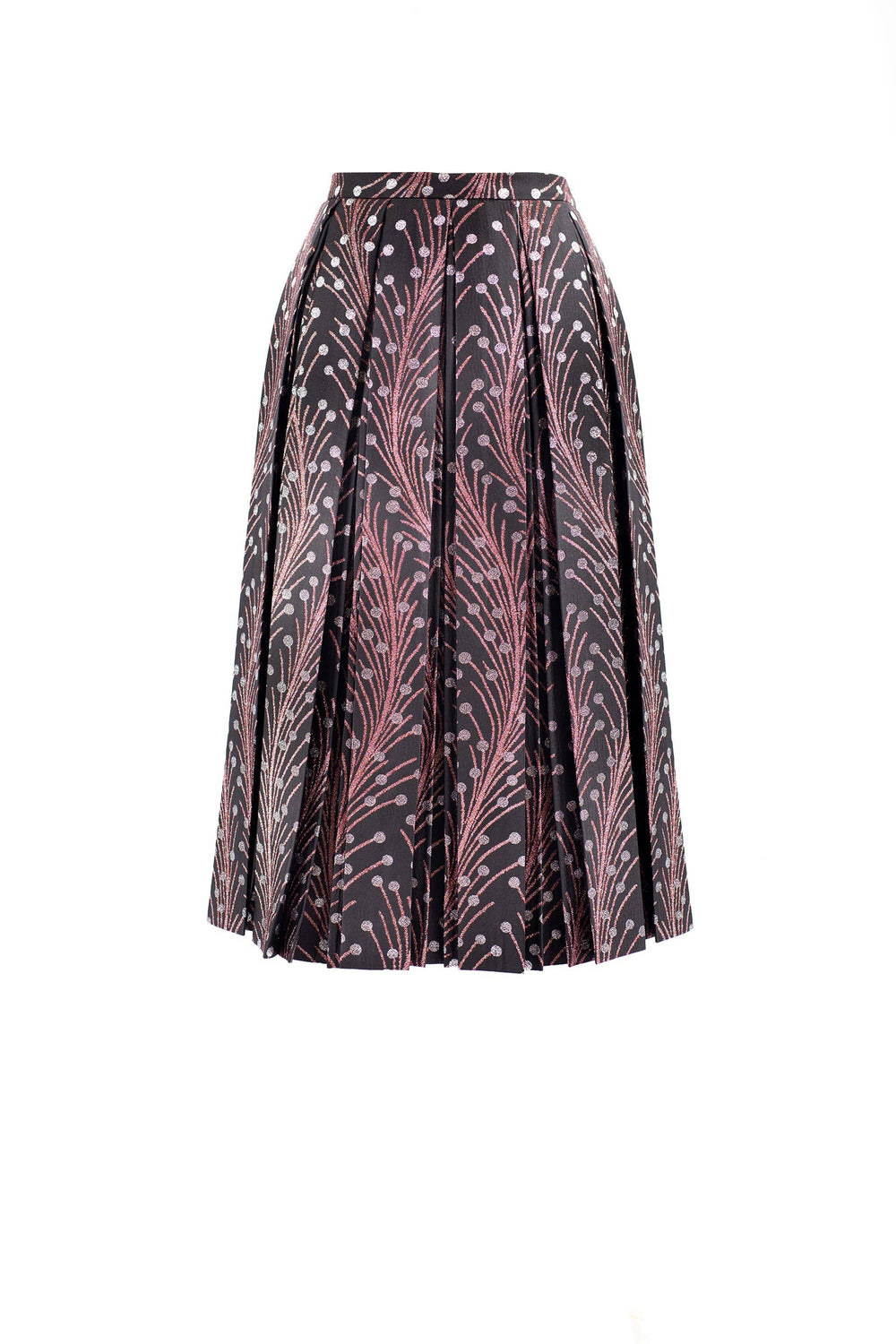 Pleated print skirt