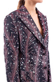 Anemones print single-breasted jacket