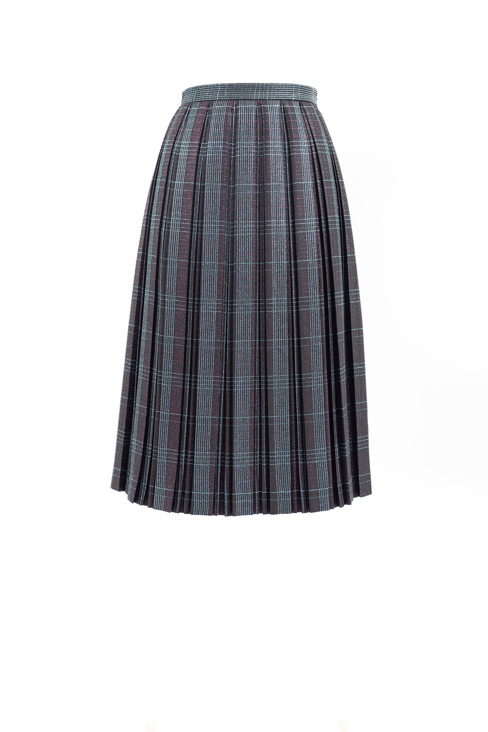 Pleated plaid skirt