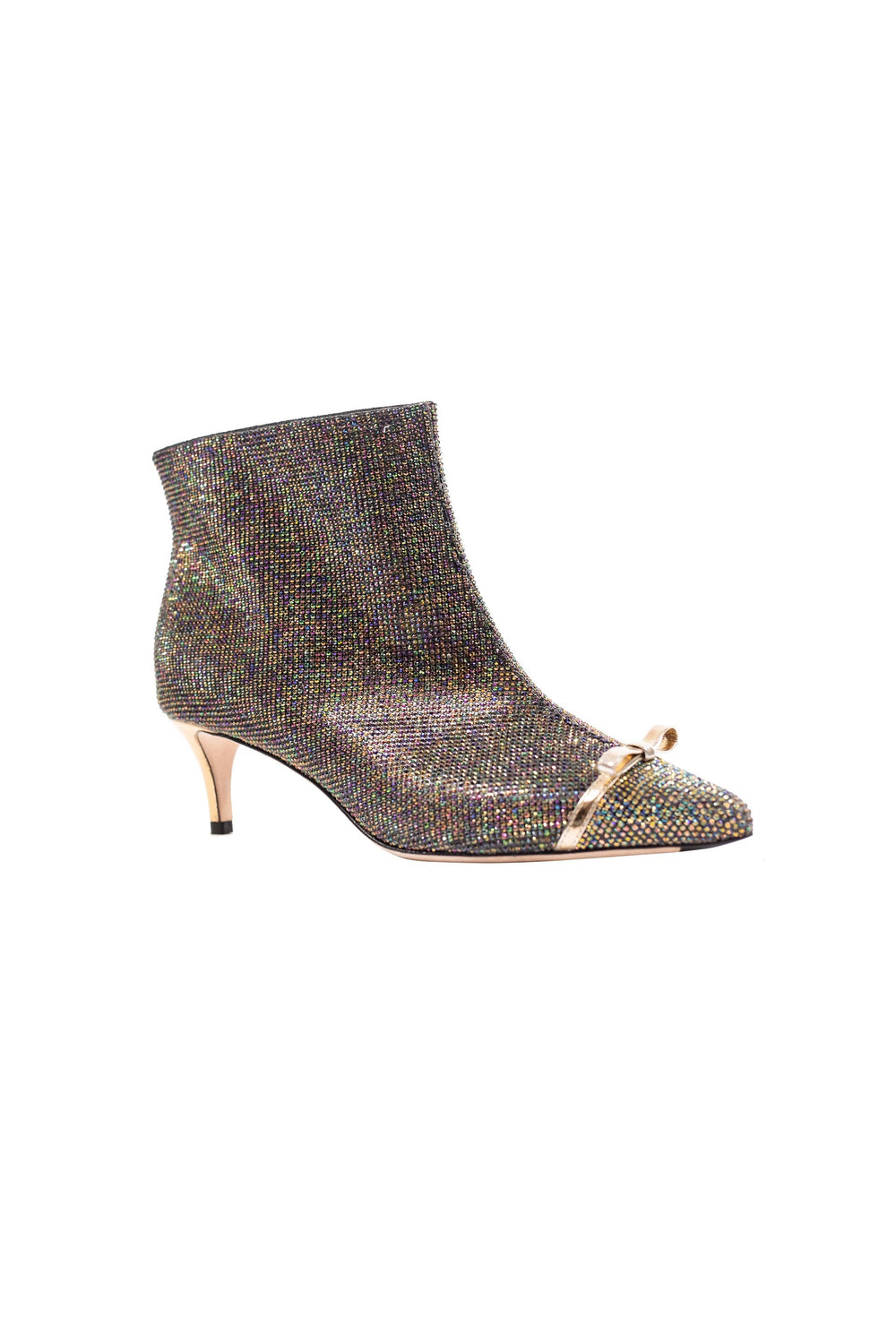 Crystal Medium-heel Ankle Boots