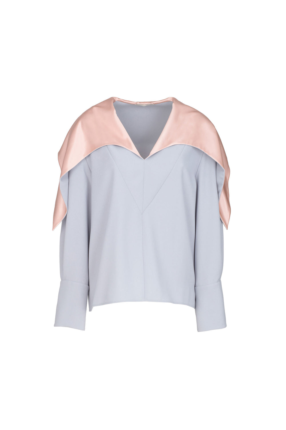 Crêpe Blouse With Silk Collar