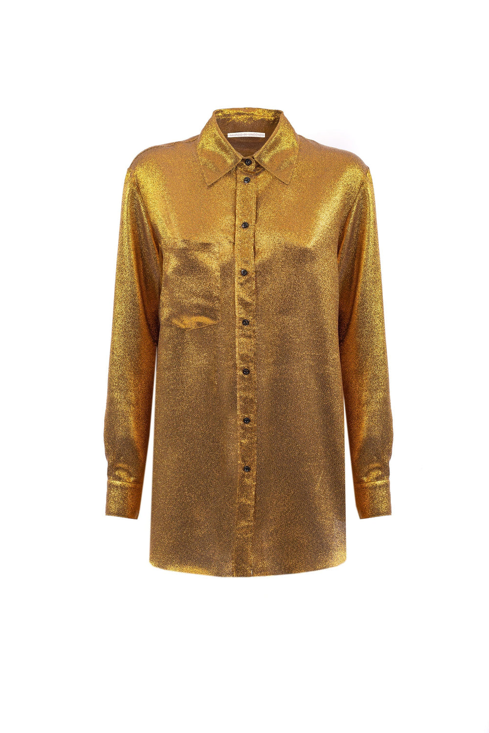 Gold blouse with breast pocket