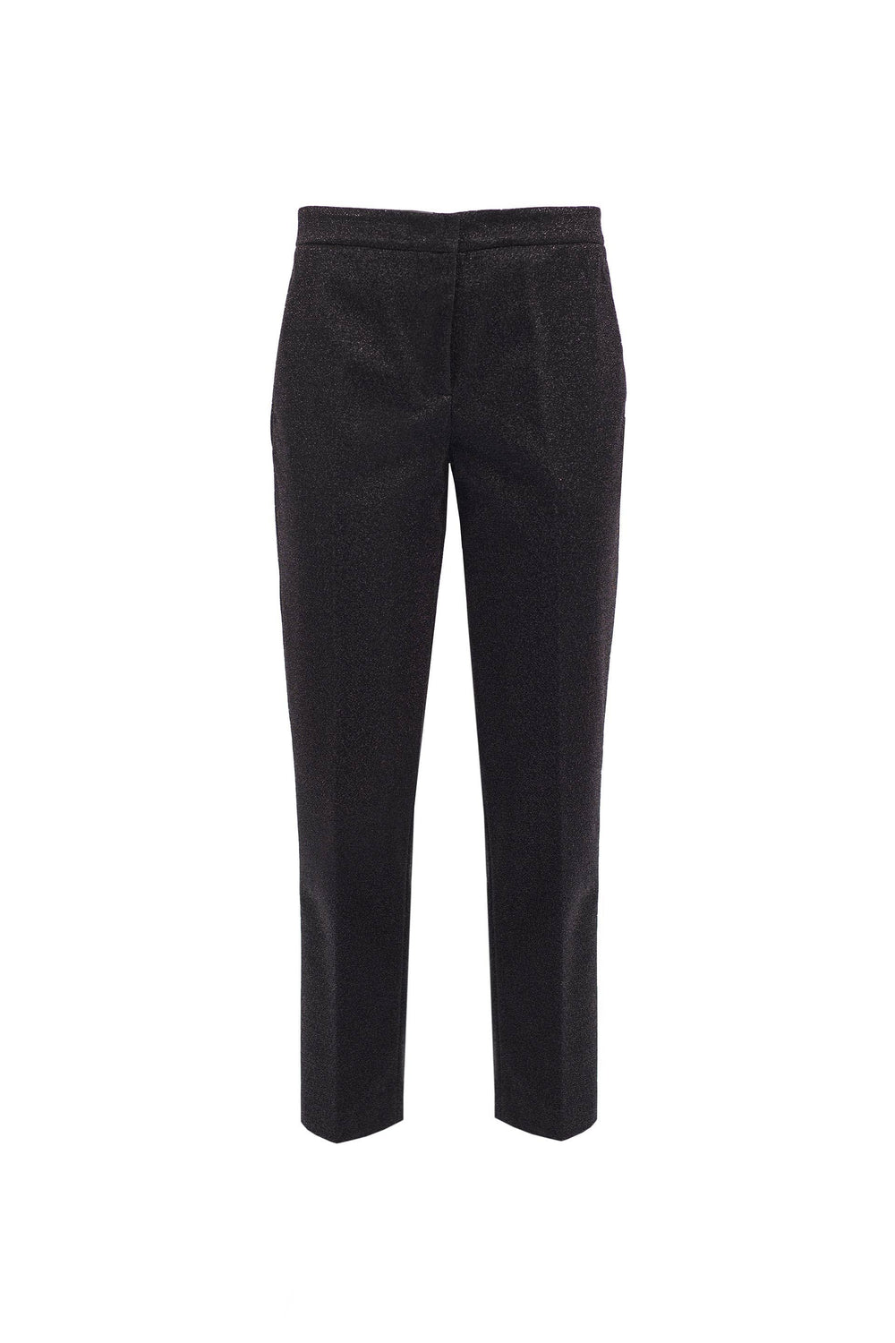 Lurex trousers with pleats