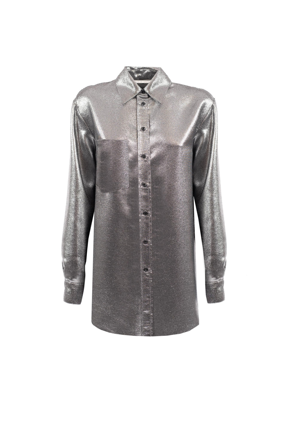 Silver Lurex blouse