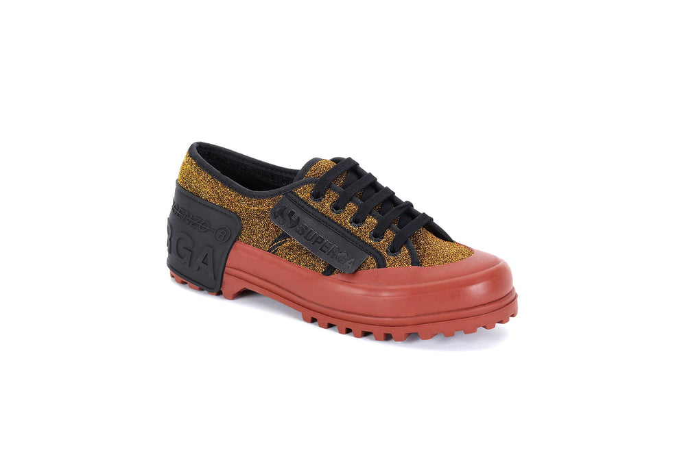 Lurex sneakers with contrasting sole