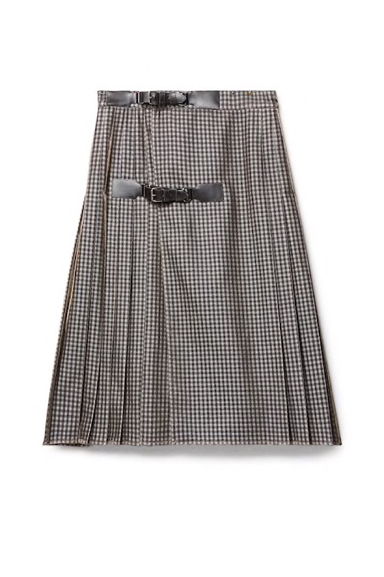 Gingham And Lurex Kilt