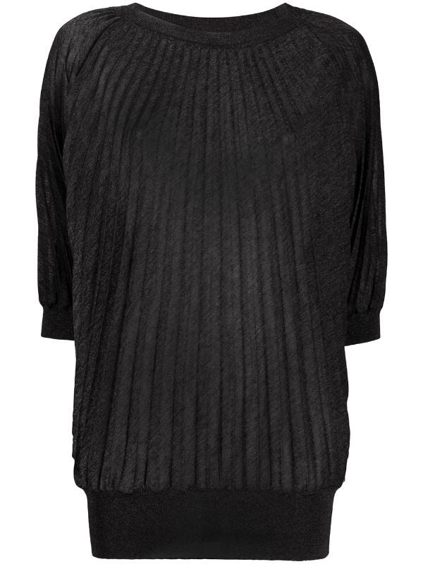 Short-sleeve Pleated Jumper