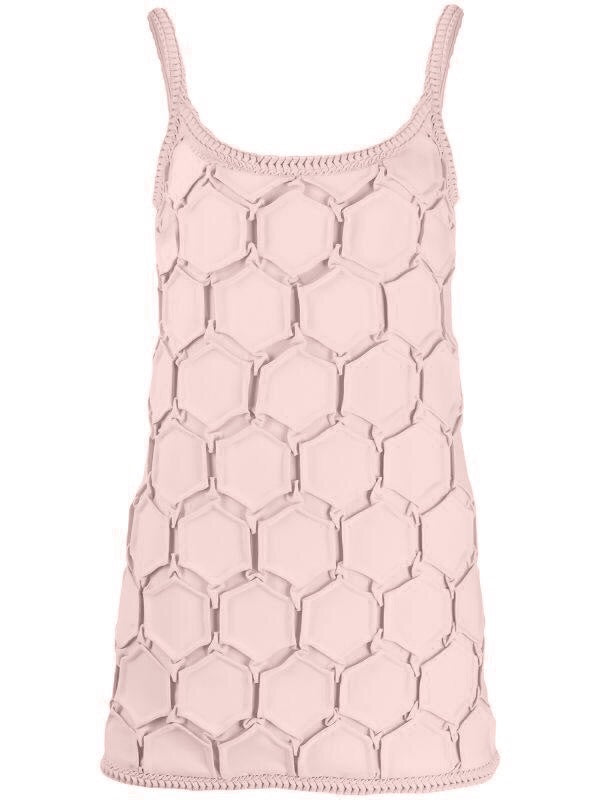 Hexagon Pleated Mini Dress