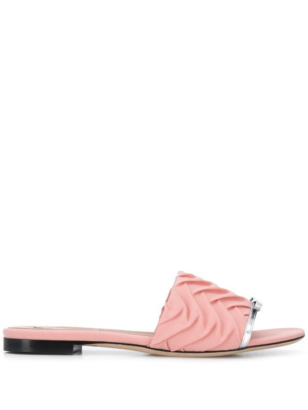 Pleated Slide Sandal