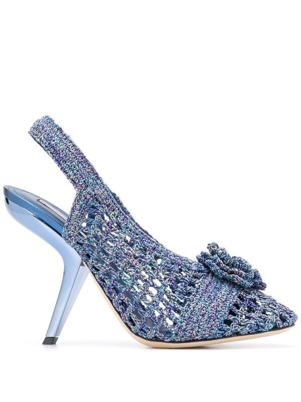 Embellished Crochet Sandals