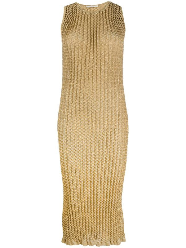 Knit Pleated Dress