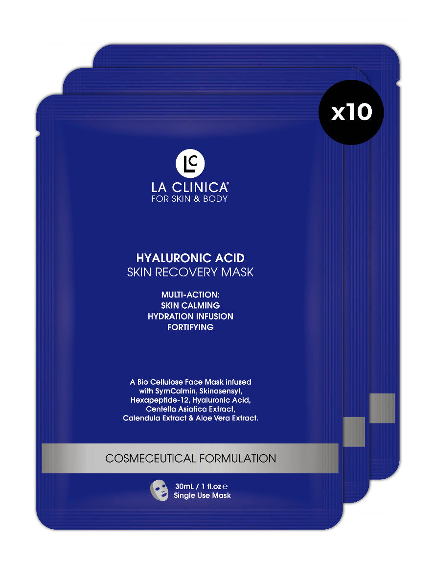 Hyaluronic Acid Skin Recovery Facial Sheet Mask 10 PACK