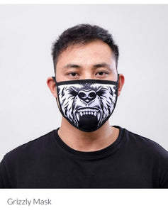 Black Pyramid Face Mask Grizzly