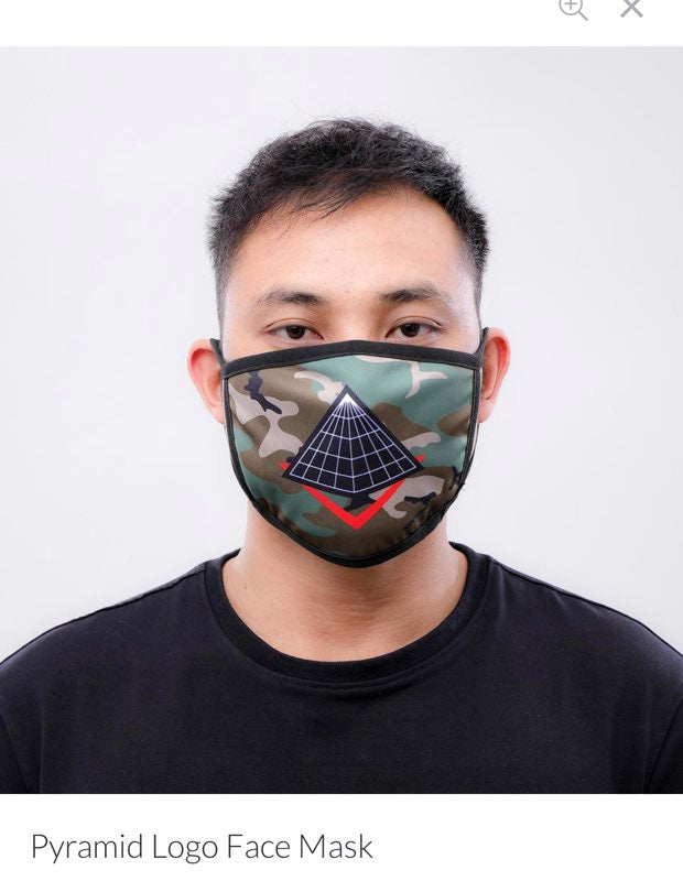 Black Pyramid Face Mask Pyramid Logo