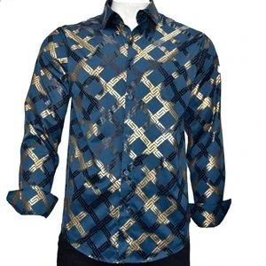 Pavini Men's Long Sleeve Button Up Dress Shirt