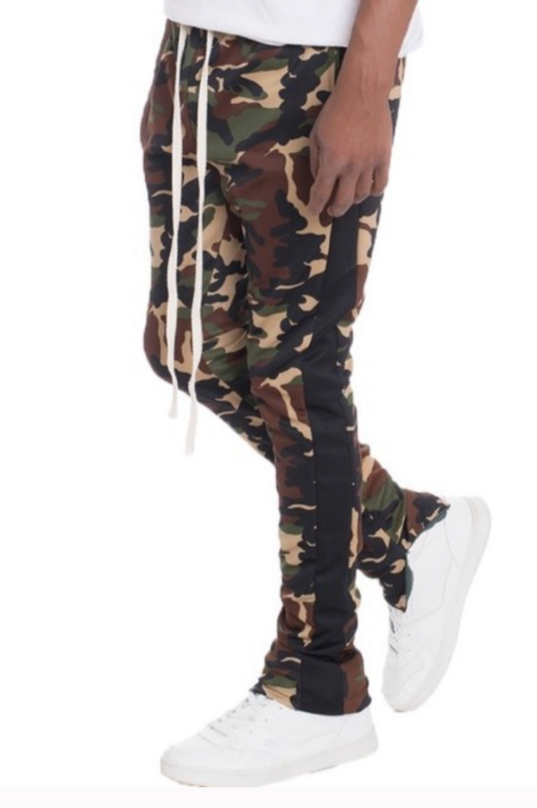 Men's Army Fatigue Camo Stretch Jogger Pants