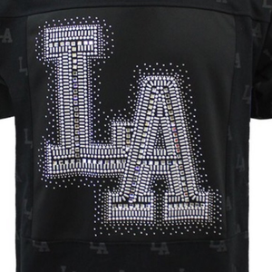 Men's Victorious LA Black Rhinestone Studded Shirt