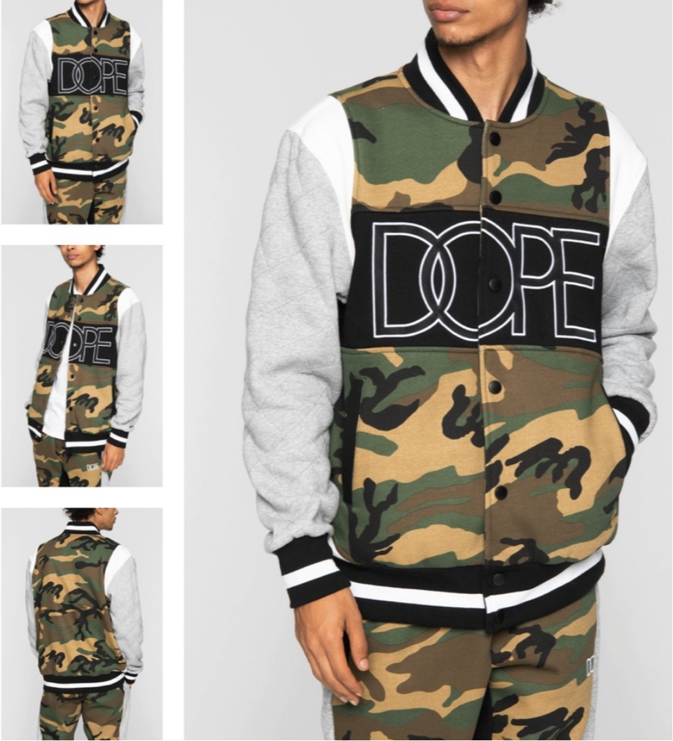 Men's DOPE Army Camo 2 Piece Set