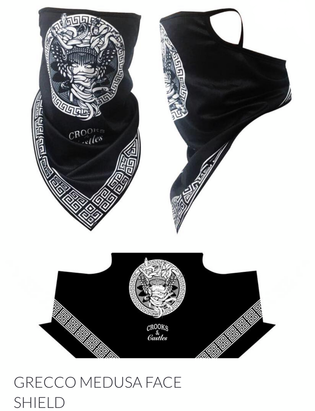 Crooks & Castles Men's Graphic Face Mask