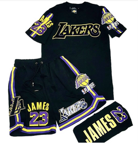 Pro Standard LA Lakers 2 Piece Short Set