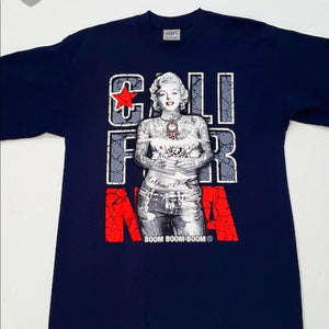 Marilyn Monroe California Navy Blue Men's Tee