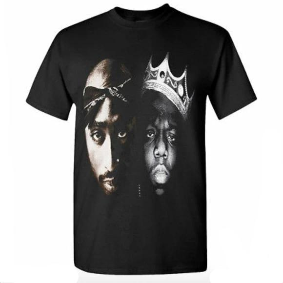 Tupac Biggie Smalls Black Mens T Shirt