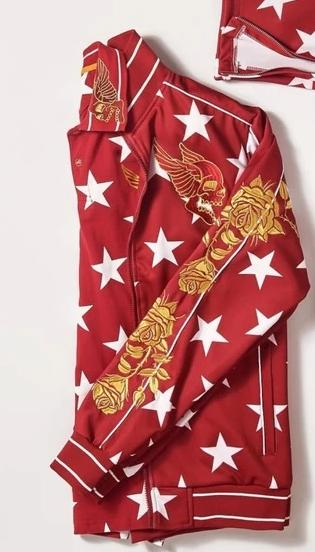 Red Star Dragon Gold Trim Track Jacket