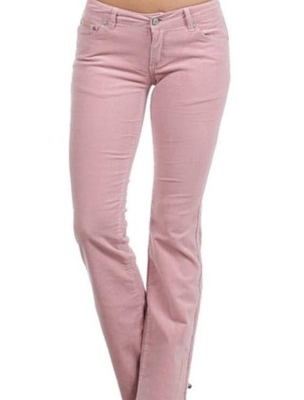 Dusty Rose Pink Corduroy Pants Jeans Boot Cut