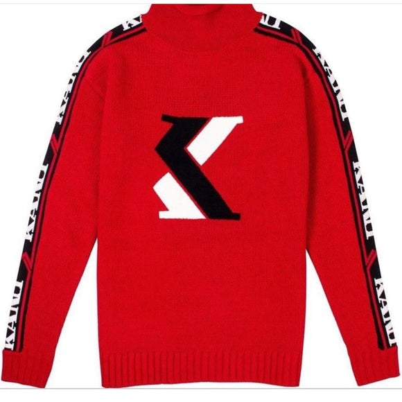 Karl Kani Red Mens Sweater Sweatshirt