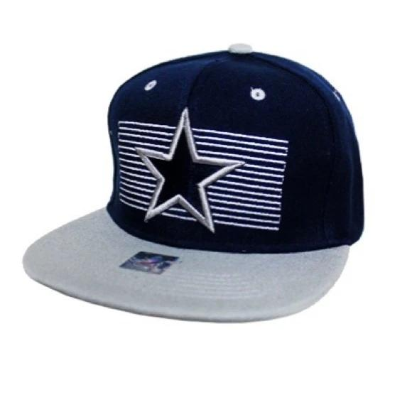 Navy blue gray Dallas fashion snapback cap hat