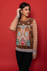 Gingerbread House Sweater