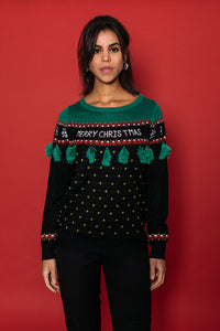 Christmas Tree Tassel Sweater