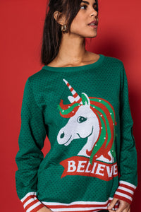 Believe Unicorn Sweater