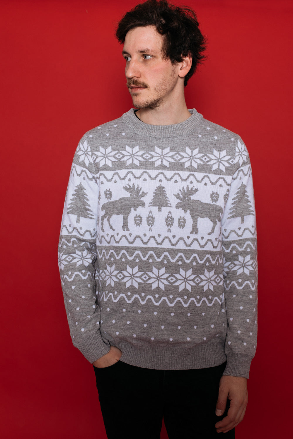 Merry Moose Sweater