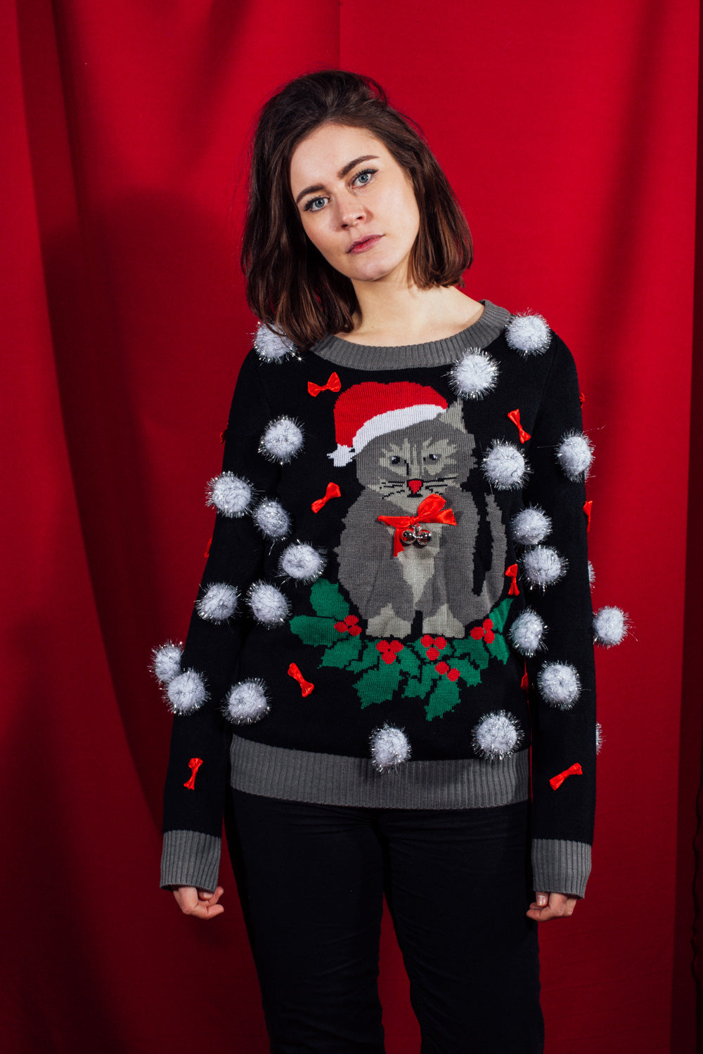Ugly Cat with Bells Sweater