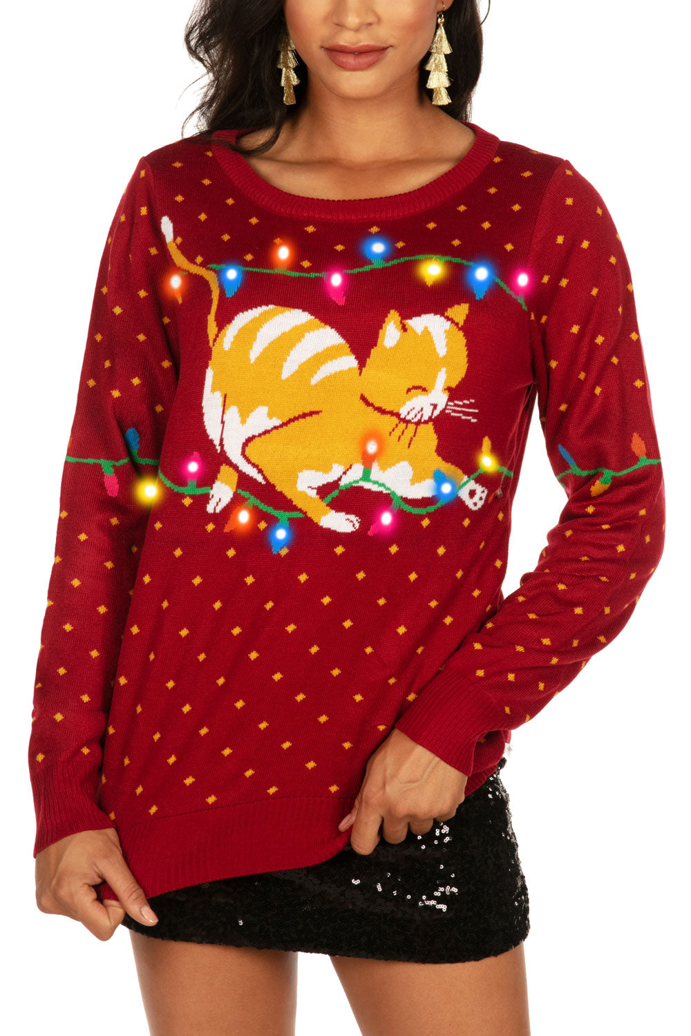 Cat-itude LED Sweater
