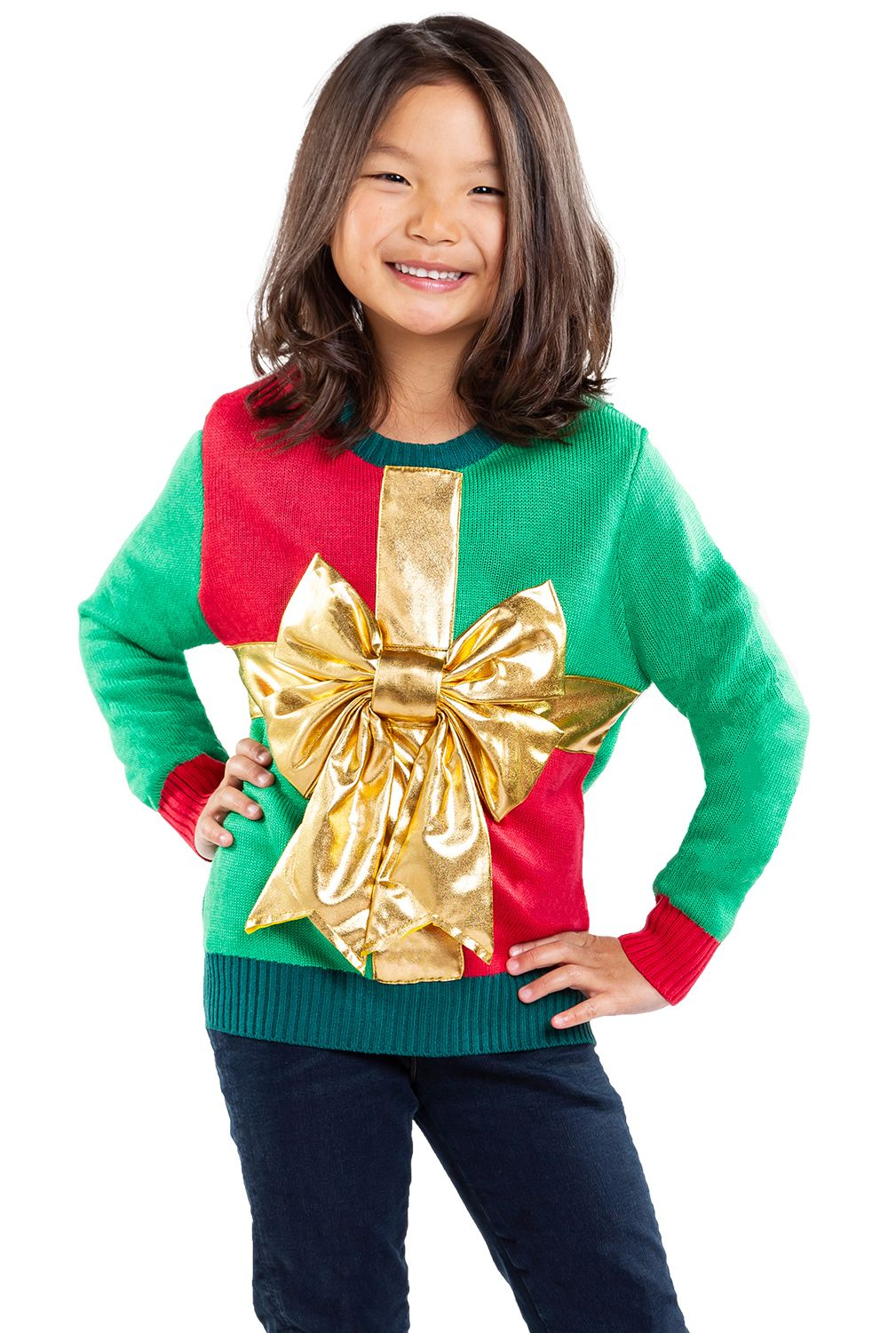 Girls Little Present Sweater