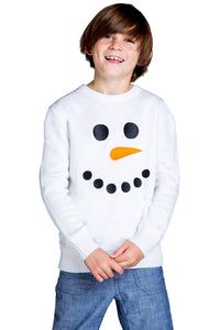 Boys Snowman Face Sweater