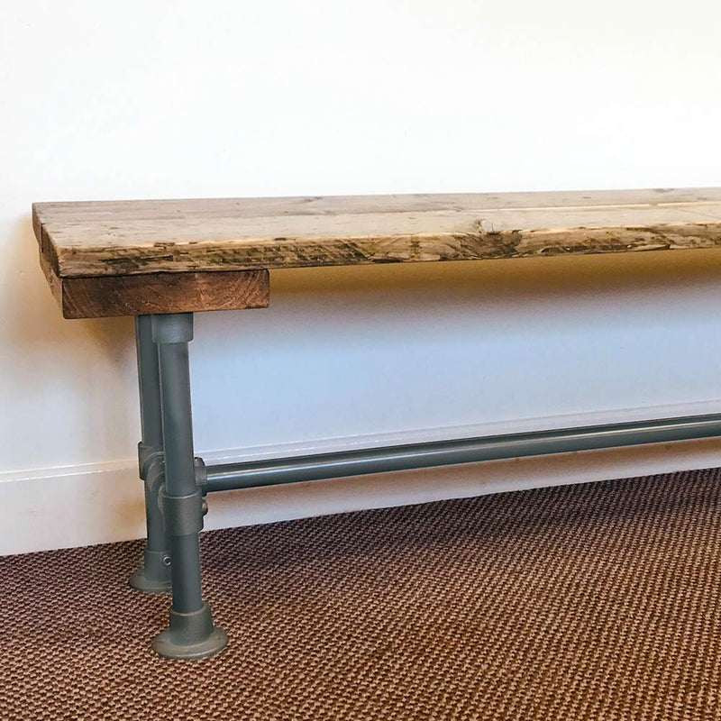 Industrial Bench with Metal Legs | Reclaimed Timber