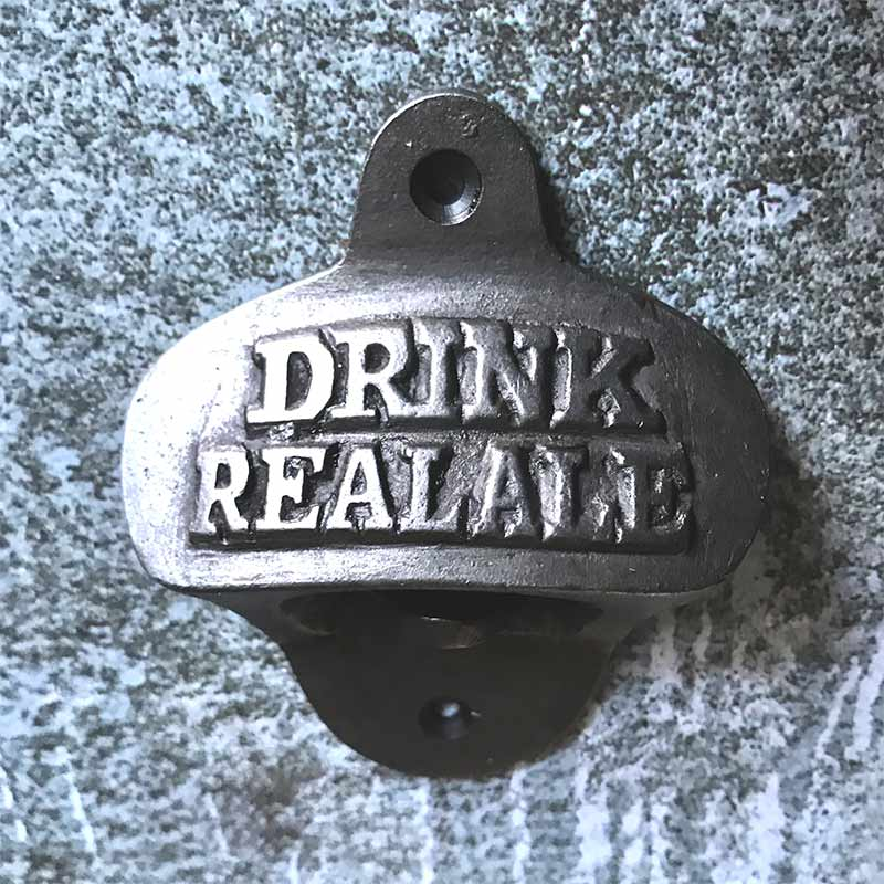 Drink Real Ale Wall Mounted Bottle Opener