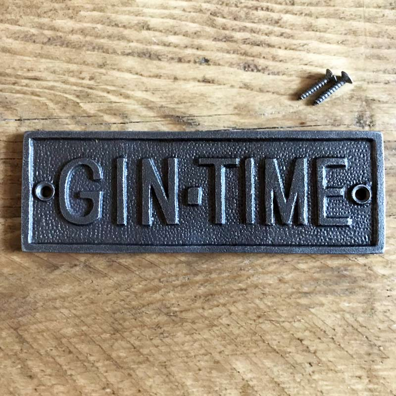 Gin Time wall plaque