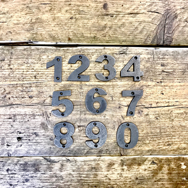 metal number sign