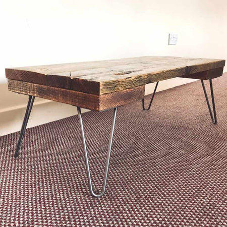 Industrial Style Hairpin Coffee Table