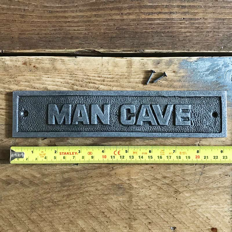 Man Cave wall plaque
