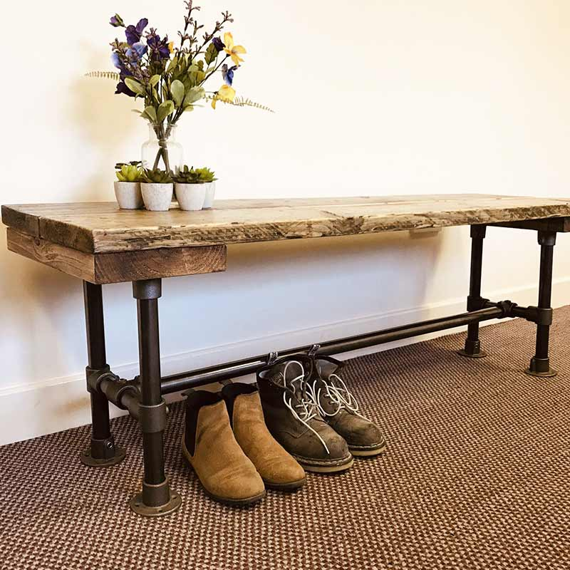 Reclaimed Wooden Bench | Modern Rustic