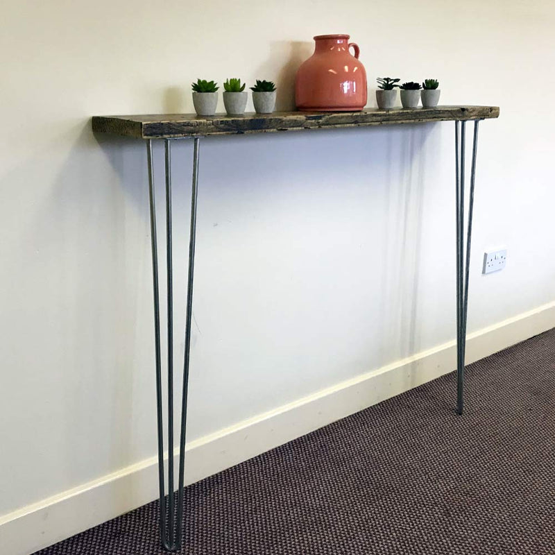 Scandi Console Table With Hairpin Legs | Hall Tables