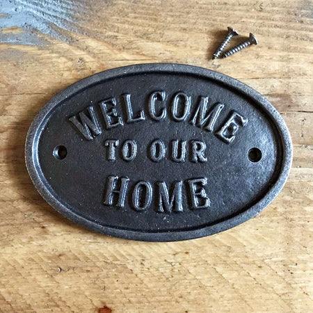 Welcome To Our Home | Door Plaques